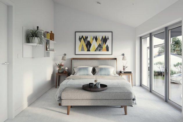 Идеи серой спальни: добавление других цветов