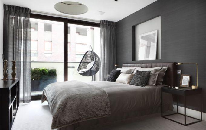 Идеи серой спальни: смешайте разные оттенки серого