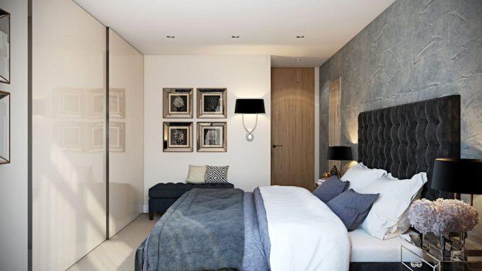 Идеи мужской спальни: сочетание фактур