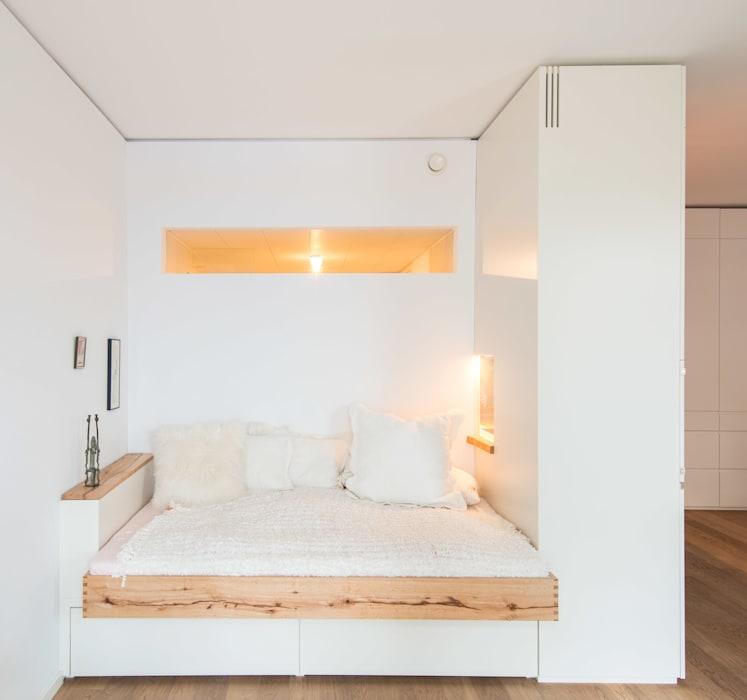 Полуоткрытая спальня