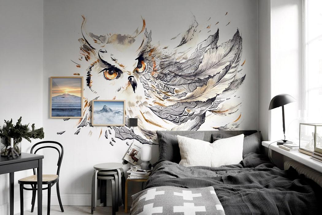 Идеи серой спальни: начните со стен