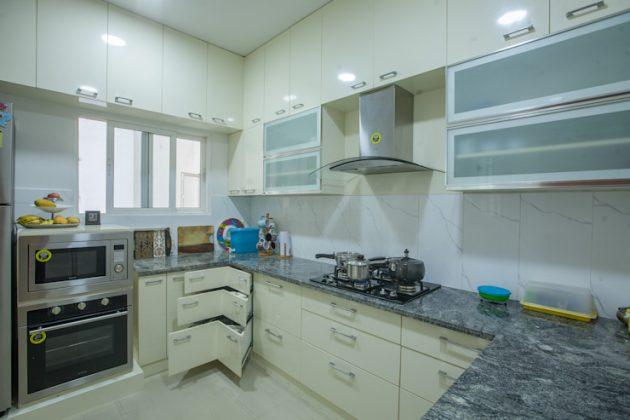 Индивидуальные выдвижные ящики для кухонного углового шкафа