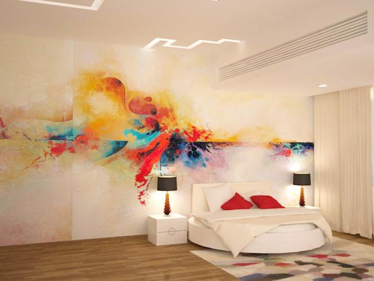 Рябь радуги на стене