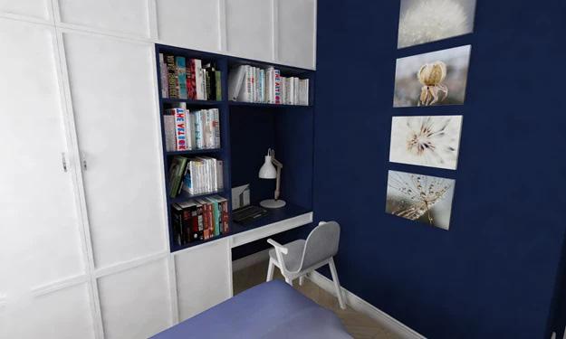 Идея письменного стола в маленькой комнате