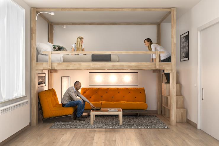 Двухъярусная кровать или антресоль